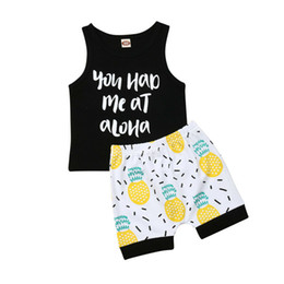 $enCountryForm.capitalKeyWord Australia - 0-24M Baby Boy Infant Holiday Tops Vest Pineapple Shorts 2PCS Outfit Clothes Summer