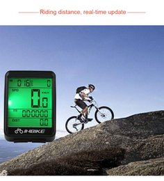 wireless waterproof bicycle odometer speedometer Canada - INBIKE Mountain Bike Odometer Waterproof Wireless And Wired MTB Bike Cycling Computer Bicycle Code table Digital Speedometer