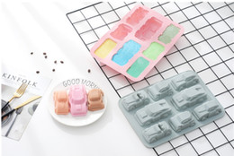 fondant car cake UK - Cartoon Car Shape Silicone Mold Chocolate Muffin Ice Baking Pan,Soap Pastry Bakeware ,Kicthen Fondant Cake Decoration Tools