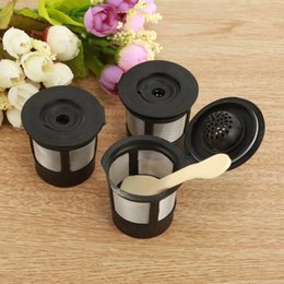 Filter Boxes Australia - 3Reusable Refillable Coffee Strainer K-Cup Filter Pod for Keurig K50&K55 Coffees Makers