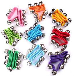 $enCountryForm.capitalKeyWord Australia - Carnival Party Noise Maker Wristband Bracelets Percussion Bells Baby Education Toys Dance Rattle Bells For Adults Children Festive Supplies