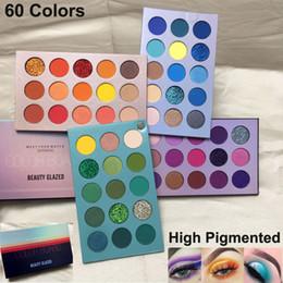 Beauty glazed eyeshadow palette 60 Colors Eye Shadow color board NUDE shimmer matte glitter makeup eyeshadow palette brand NEW cosmetics DHL