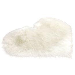 $enCountryForm.capitalKeyWord Australia - Soft Fluffy Blanket Bedroom Living Room Plush Mat Heart Shape Non Slip Imitation Wool Rugs Home Decoration