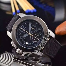 Luxury Watches Oversize Australia - New Chronofighter Oversize Amazonia 2CCAU.G01A PVD Steel Black Bezel Black Dial Quartz Chronograph Mens Watch Stopwatch Nylon Watches GH01a1