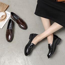 $enCountryForm.capitalKeyWord Australia - Hot Sale-Women Flats 2019 New Patent Leather Loafers Round Toe Shoes Women Flat Heel Casual Footwear Slip On Shoes Size 34-41