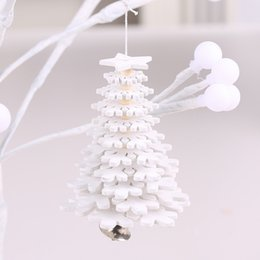 Small hanging bellS online shopping - DIY D Snowflake Star Christmas Tree Ornaments Xmas Tree Hanging Pendants Wooden Small Bell Decorations For Home Office
