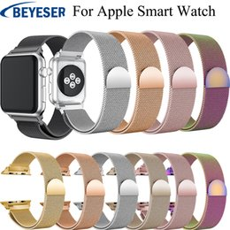 Band Belts Australia - Stainless Steel Bracelet For Apple Watch Series 4 3 2 1 42mm 38mm Band Wrist Link belt for iwatch 4 3 2 1 Milanese Loop Strap