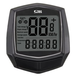 bicycle clocks Canada - Accessories Clock Bicycle Speedometer Waterproof Odometer Stopwatch Backlight Black Multifunction Cycling Computer Wired Sensor