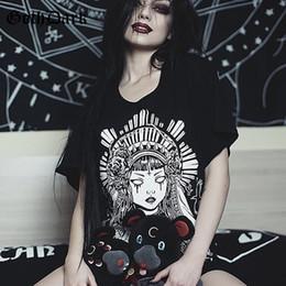 acb029c29 Goth Dark Grunge Black Print T-shirts Gothic Loose Punk Harajuku Streetwear  Summer 2019 T-shirt Female Fashion Aesthetic T Shirt Y19060601