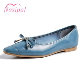 Nasipal Women Flats Nude Flat Shoes Women Loafers Ballet Flats Elegant  Butterfly-knot Black Shoes Slip on Comfortable Dress Shoe 38cea3c90ee0