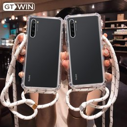 bumpers phone cases UK - GTWIN Clear Bumper Drawstring Phone Case For Xiaomi 9 9T Redmi Note 8T 8 7 6 5 Pro 8A K20 CC9E Soft Luxury Lanyard Back Cover