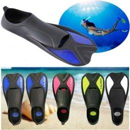 Kids Adult Adjustable Neoprene Diving Swimming Short Fins Anti-slip Snorkeling Surfing Swim Summer Training Hydrofoil Diversion Flippers on Sale