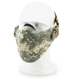 Leather Half Face Masks Australia - Super Light Half Face Tactical Mask Camouflage Tactical Mask Outdoor game Paintball Airsoft Tactical Jungle CS Light Half Face M