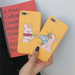 Iphone Back Hot Pink Australia - Hot Top Couple Rabbit duck Pattern Crashproof Soft Back Cover TPU Cell Phone Case Protective Covers For iPhone X XR XS MAX 6 6S 7 8 PLUS