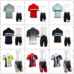 Scott Bikes Canada - RAPHA SCOTT Cycling Short Sleeves jersey bib shorts sets Summer men's windproof breathable outdoor sports mountain bike Jersey suit S52336