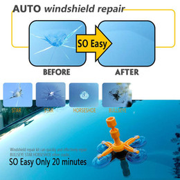$enCountryForm.capitalKeyWord Australia - DIY Car Windshield Repair Kit Tool Auto Windscreen Chips and Cracks Repair Tools Set 4 suckers Care Products