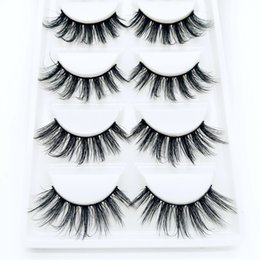 False Eyelash Extension Kits Australia - HBZGTLAD New 5 pairs Real Mink Fake eyelashes 3D Natural False Eyelashes Mink Lashes Soft Eyelash Extension Makeup Kit Cilios 02