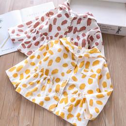 $enCountryForm.capitalKeyWord Australia - Girls Baby Princess Yellow Red Color Dots Print Clothes Korean New Spring Holiday Fashion Kids Cute Jacket Outwears