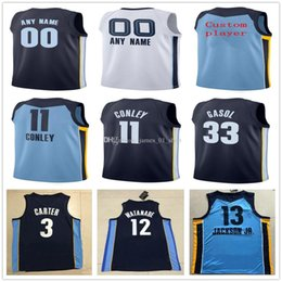 e03493a0e Custom 19 20 Printed MensMemphisGrizzliesJerseys Top Quality 2019 2020 New  Mens White Dark Blue soccer Jerseys football shirts size S-XXL