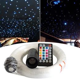 Fiber optic light kits online shopping - RGB Fiber Starlight Headliner Kit Strands Voice Control W LED Fiber Optic light Kit For Car