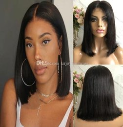 dark brown hair color celebrities Australia - Celebrity Wig Bob Cut Lace Front Wigs 10A Grade Brazilian Remy Human Hair Natural Color Bob Full Lace Wigs Fast Express Shipping