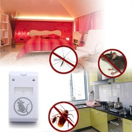 electronic mouse killer Canada - 110-220V Electronic Ultrasonic mosquito mouse Killer Trap Cockroach Mosquito Repeller Insect Rats Spiders EU Plug