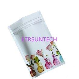 $enCountryForm.capitalKeyWord Australia - 1000pcs lot Vase pattern Aluminum Foil Food Storage Package Pouch Stand Up Self Seal Zipper Zip Lock 4 Sizes White Pack Bag