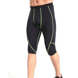 $enCountryForm.capitalKeyWord Australia - Men Running Shorts Knee-Length Skinny Sports Gym Compression Wear Under Base Layer Shorts Pants Athletic Tights