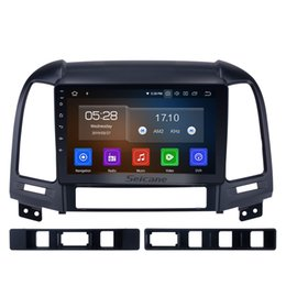touch video NZ - Android 9.0 HD 1024*600 touch screen Car Stereo GPS Navigation for 2006-2012 Hyundai SANTA FE with Bluetooth USB WIFI support OBD2 car dvd