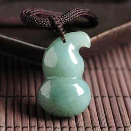 $enCountryForm.capitalKeyWord NZ - Natural A goods light green oil green jade gourd pendant men and women models jade pendant Authentic Myanmar