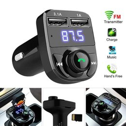 Transmitter Aux Modulator Bluetooth Handsfree Car Kit Car Audio MP3 Player with Quick Charge Dual USB Car Charger on Sale