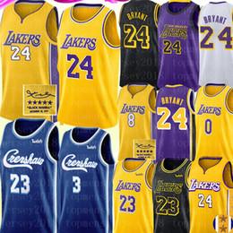 2 4 Bryant Jersey LeBron 23 James Jersey NCAA Anthony 3 Davis Kyle 0 Kuzma Jersey University Crenshaw Basketball Jerseys S-XXL on Sale
