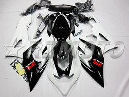 $enCountryForm.capitalKeyWord Australia - New ABS Injection Mold Full fairings kit Fit for Suzuki GSXR1000 K5 2005 2006 05 06 GSX-R1000 fairing set white black