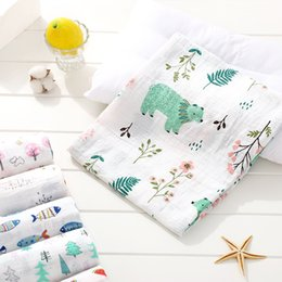 Wholesale Breathable Swaddle Blankets Muslin Bamboo Cotton Baby Girl Boy Super Soft Large blankets queen size