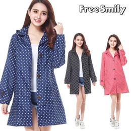 $enCountryForm.capitalKeyWord Australia - Fashion Raincoats Rain Long Jacket Cycling Dot Waterproof Windbreaker Fresh And Lovely Pearl Women RainCoat Motorcycle