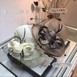 $enCountryForm.capitalKeyWord Australia - Large eaves straw hat ladies fashion charm top hat mesh splicing straw hat, feathers decorated with irregular brim