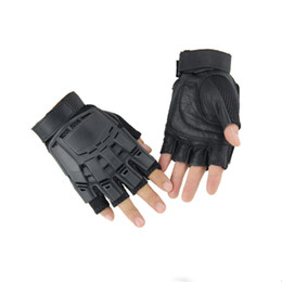 Black Leather Bike Gloves Australia - Touch Screen Rubber Hard Knuckle Tactical Gloves Full Finger And Half Finger Riding Bike Motorcycle Gloves Free DHL M326Z