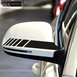 $enCountryForm.capitalKeyWord Australia - 2pcs Stickers On Car Rearview Mirror Stripes Stickers Auto Exterior Decor Waterproof Racing Car Mirror Stickers And Decals