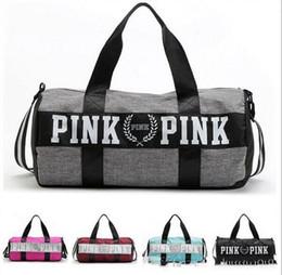 $enCountryForm.capitalKeyWord NZ - Women Handbags pink Large Capacity PINK Travel Duffle Striped Waterproof Beach Bag Shoulder Bag