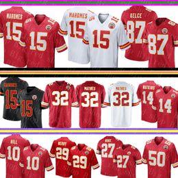 3b4bdf942ed Chiefs 15 Patrick Mahomes Jersey Kansas City 87 Travis Kelce 10 Tyreek Hill  32 Tyrann Mathieu 14 Sammy Watkins 27 Hunt Football Jerseys