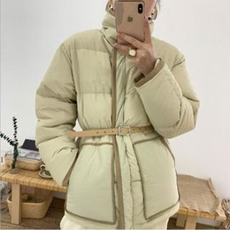 Green Slim Parka Jacket Australia - U-SWEAE Sash Slim Parka Winter Jacket Women Thicken Abrigos Mujer Invierno 2018 Jacket Women Chaqueta Mujer Female Jackets