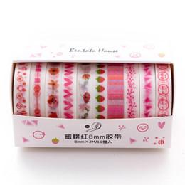 $enCountryForm.capitalKeyWord Australia - 10 Pcs pack Green Pink Yellow Journal Washi Tape Set Adhesive Tape DIY Scrapbooking Journal Masking 2016