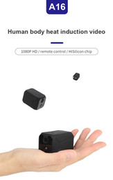 alarm pir camera NZ - A16 HD Wifi mini camera 1080P PIR Night Vision Motion Detect Alarm Security camera wireless remote Monitor Phone App