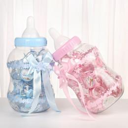 $enCountryForm.capitalKeyWord UK - Set of 31 Baby Shower Favors Bottle Plastic Baby Bottle Candy Box Gift Box Baptism Christening Party Decor Favours(1big+30small)