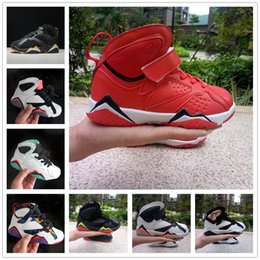 $enCountryForm.capitalKeyWord Australia - 2019 Kids Basketball shoes 7s Blackout Win Like Black Stingray baby Kids 7 Sneaker Shoes youth boys girls running shoes Free Shipping