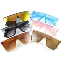 Unisexe Fashion Square Square Kids Lunettes de soleil Bébé Overdimers Shades Vintage Marque Designer Silver Miroir Verres Enfants Sunglasses populaires By1561 en Solde
