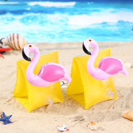Babies Inflatable Ring Australia - Hot Sale Infant Inflatable Arm Swim Ring Baby Swim Sleeves Float Laps Pineapple Flamingo Arm Ring Crab Float Baby Swimming Learning