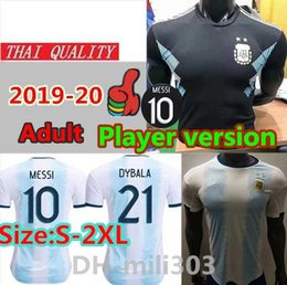 Quality player online shopping - Player version Argentina soccer jersey thai quality MESSI DYBALA HIGUAIN ICARDI Camisetas de futbol football shirt uniforms
