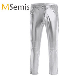 $enCountryForm.capitalKeyWord NZ - Mens Pants Faux Leather Pants Men Trousers For Night Clubwear Skinny Moto Biker Tight Pant Legging Long Trousers For Performance