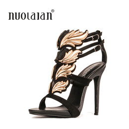 Wedding Closed Toe Pumps Australia - Brand fashion women pumps leaf flame high heel pumps shoes for womens sexy peep toe high heels sandals party wedding shoes woman